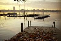 Herbstlaub an der Aussenalster