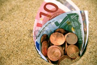 Euro im Sand