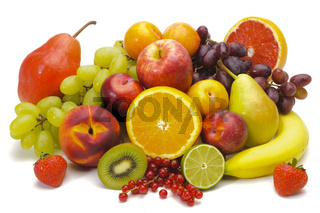 group of fresh mixed fruits
