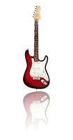 electric guitar, redburst
