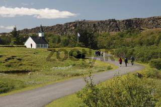 Þingvallakirkja (The church in Þingvellir) in Þingvellir (Thingvellir)