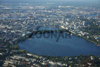 Luftbild Hamburg Aussenalster