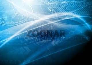 Abstract wavy technical background. Eps 10 vector