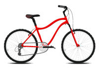 Red Bicycle on a white background. Vector.