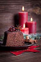 chocolate cake for christmas