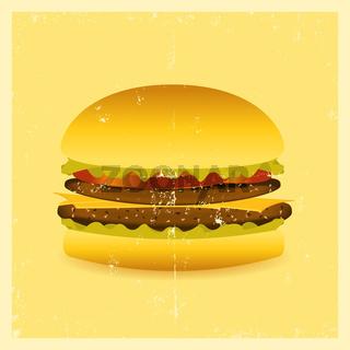 Grunge Hamburger
