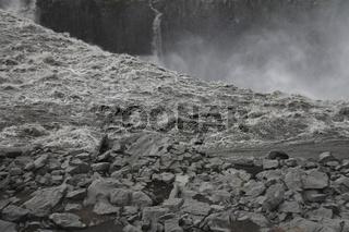 The edge of Dettifoss. Jökulsárgljúfur