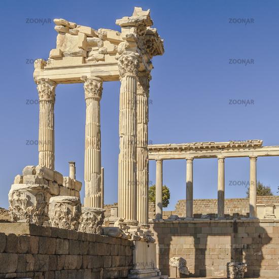 Ancient City Ruins Pergamon Turkey