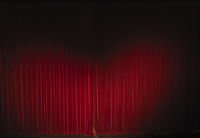 waved velvet theater curtain