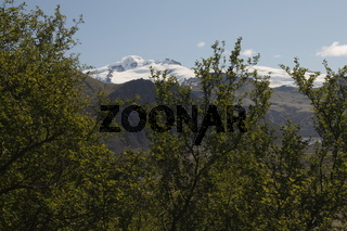 Hvannadalshnúkur (2110m) - the highest peak in Iceland. Skaftafell