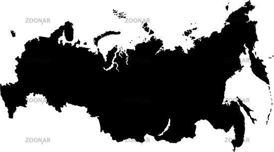 Карта россии силуэт