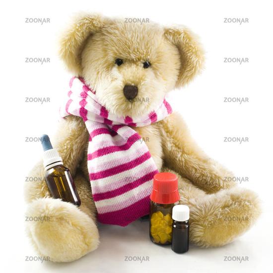 Teddy bear with medicine