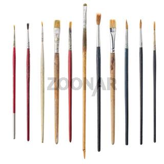 Used art brushes