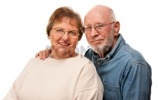 Affectionate Senior Couple Portrait