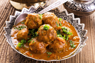 meatballs cooked in the bowl
