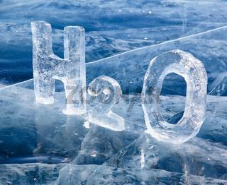 Chemical formula of water H2O