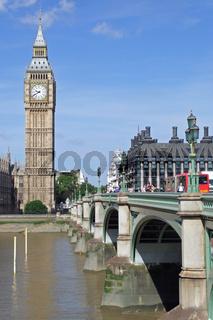 Big Ben und die Westminster Bridge