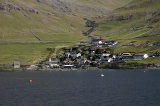 Bøur village on the Faroese island of Vagar
