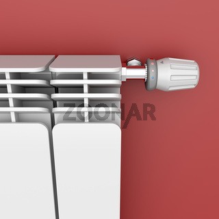 Heating radiator with thermostat