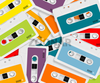 colored Audio casette
