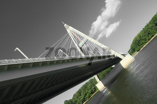 The Megyeri bridge. Hungary