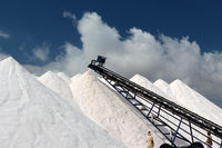 Salt harvest in Mallorca Ses Salines