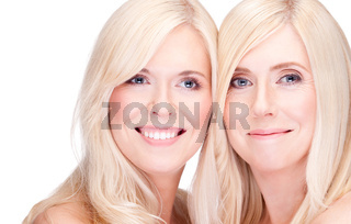 mother and daughter- natural beauty