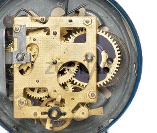 Mechanism the old alarm clock