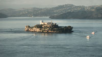 Alcatraz with Ferryboats