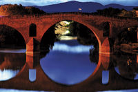 Spain: Pilgrim´s bridge in Puente la Reina