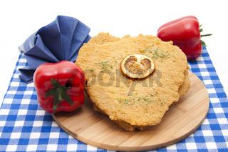 Schnitzel und Paprika