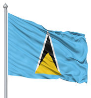 Waving flag of Saint Lucia