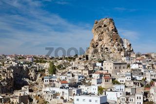 Ortahisar rock fortress in Cappadocia