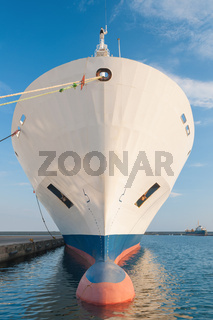 Bow of dry cargo ship