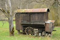 Old wooden trailer