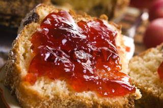 Traditional Polish Cake with apple marmelade