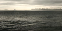 Alcatraz and San Francisco in the Morning