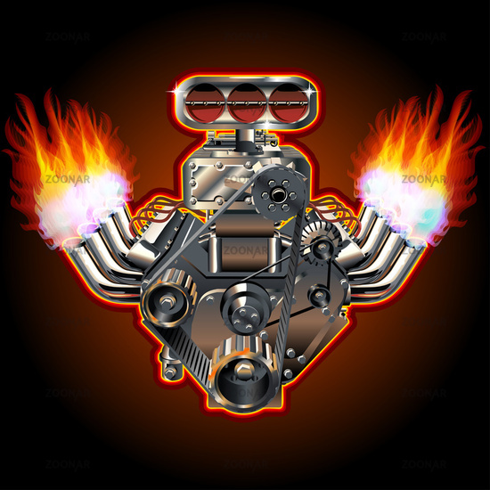 Cartoon Turbo Engine