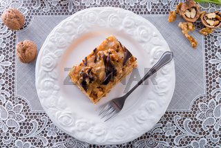 walnut caramel cake