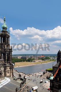 Huge panorama of Dresden, Germany