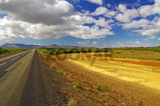 Weite Landschaft in Westisland