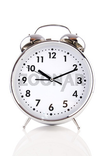 Alarm clock isolated on the white