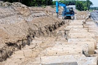 Baustelle Kanalbau