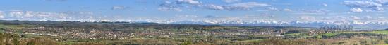 Upper Swabia with alpenpanorama