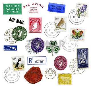 Briefmarken und Poststempel aus Irland