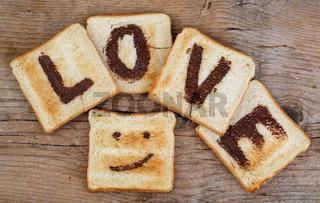 Liebe auf Toast