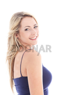 Studio shot of beautiful blonde woman