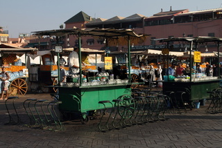 Juice stalls at Djemma el-Fna. Marrakesh
