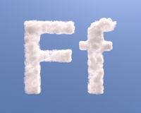 Letter F cloud shape