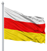 Waving flag of South Ossetia